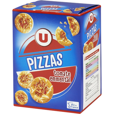 Crackers pizza tomate emmental U, paquet de 85g