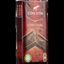 Chocolat au lait CÔTE D'OR, 3x100g