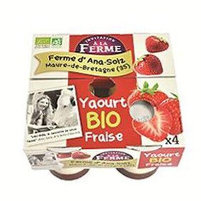 Yaourt à la fraise bio 4x125g Le p'tit gallo