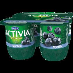 Lait fermenté sucré au bifidus à la myrtille ACTIVIA, 4x125g