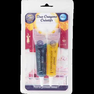 Duo Crayons créatifs blister 2 crayons au choix 2x20g