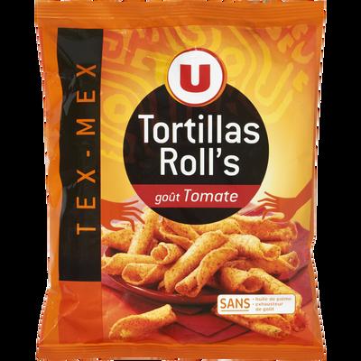 Tortillas roll's goût tomate U, paquet de 125g