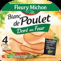 Fleury Michon Blanc De Poulet Doré Au Four , 4 Tranches, 160g