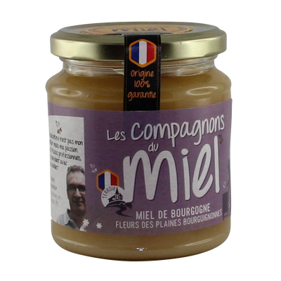 Miel de fleurs des plaines bourguignonnes COMPAGNONS DU MIEL, 375g
