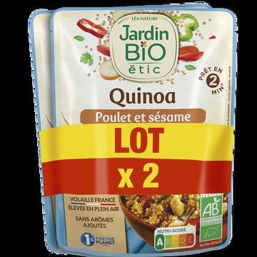 Jardin Bio Quinoa Émincé Poulet & Sésame Bio Jardin Bio Doypack 2x250g