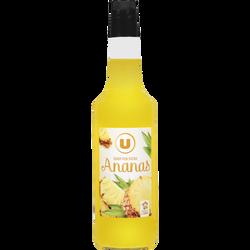 Sirop d'ananas U, bouteille en verre de 70cl