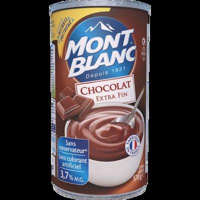 Crème dessert au chocolat MONT BLANC, boîte de 570g