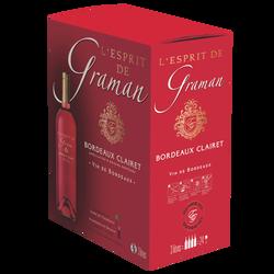 Bordeaux AOP rosé  Clairet Esprit de G, 3L