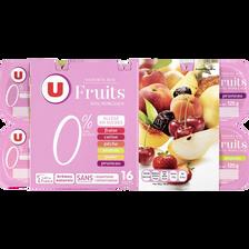 Yaourt 0%MG et allegé en sucres aux fruits U