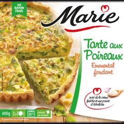 Tarte aux poireaux emmental et crème fraîche MARIE, 400g