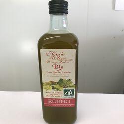 Huile d'olive vierge extra non filtré fruitée avec sa pulpe BIO Robert bouteille 75cl