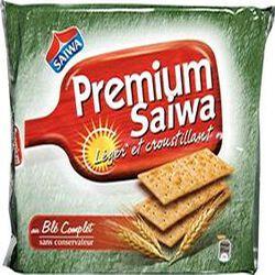 Crackers au blé complet Premium SAIWA, paquet de 250g