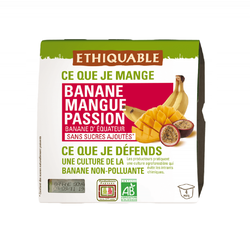 Purée Banane/Mangue/Passion BIO ETHIQUABLE 4x100g
