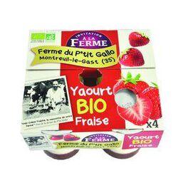 Yaourt bio à la fraise 4x125g