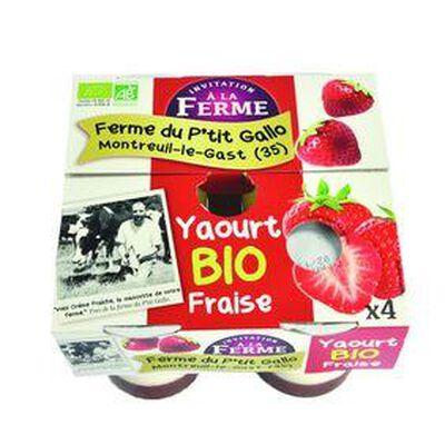 4 yaourts fraise Ana Soiz