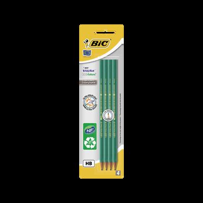 Crayons graphite Evolution 650 BIC, HB, corps en résine, 4 unités