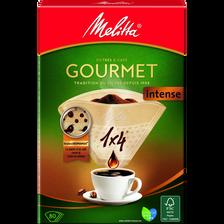 Filtres à café n°1x4 Intense MELITTA, 80 unités