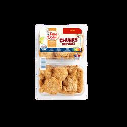 Chunks poulet, PERE DODU, France, Barquette 2x600g