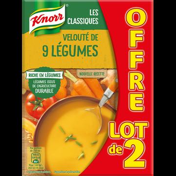 Knorr Potage Velouté Aux 9 Légumes Knorr, 2x1l