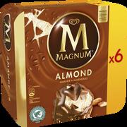 Magnum Magnum Chocolat Amandes, X6 Soit 492g