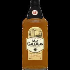 Blended Scotch Whisky 3 ans d'âge MAC GALLAGAN U , 40°, bouteille de 1l