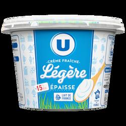 Crème fraîche épaisse légère U, 15%MG, 20cl