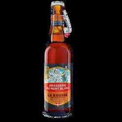Bière la rousse MONT BLANC, 6,5°, 75cl
