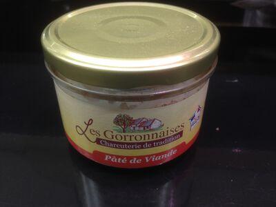 Conserves de pâté de viande, LES GORRONNAISES, 200g