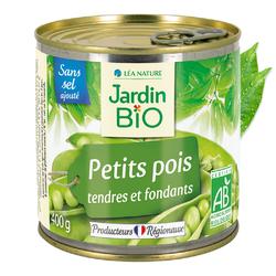 Petits pois sans sel ajouté JARDIN BIO 400g