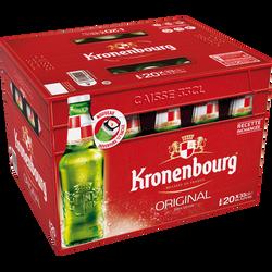 Bière Valisette KRONENBOURG, 4,5°, pack de 20 bouteilles de 33cl