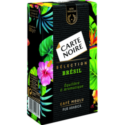 Café moulu pur arabica sélection Brésil CARTE NOIRE, paquet de 250g
