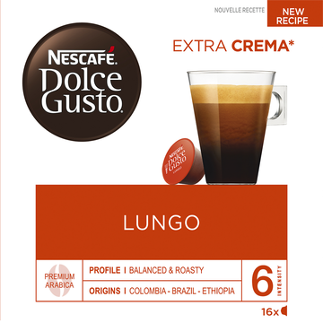 Nescafé Dolce Gusto Lungo Nestlé, 6x104g