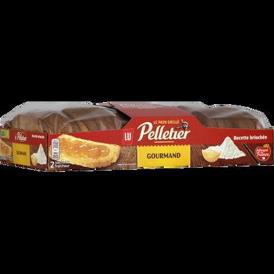 Pain grillé brioché Gourmand PELLETIER, 26 tranches, 300g