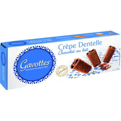 Crêpes dentelle au chocolat au lait GAVOTTES, paquet de 90g