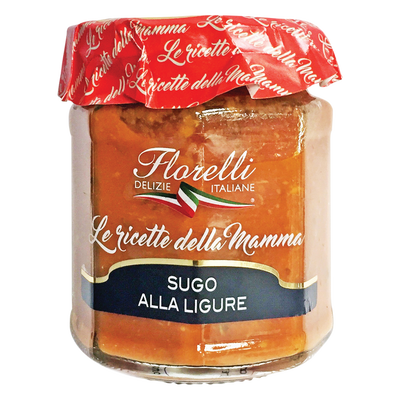 Sauce tomate aux olives taggiashe FLORELLI, 200g