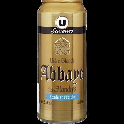 Bière blonde d'Abbaye des Flandres U SAVEURS, 6,5°, 50cl