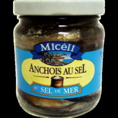 Anchois au sel MICELI, verre de 260g