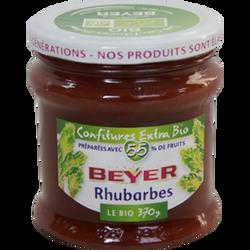 Confiture extra bio à la rhubarbe, BEYER, 370g