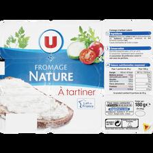 Fromage à tartiner nature  U, 21,5% de MG, 9x20g