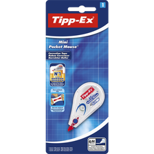 Ruban correcteur Mini Pocket Mouse TIPPEX, 5mmx6m, réécriture immédiate
