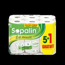 Sopalin Essuie-tout Sur Mesure Blanc , X5+1 = 12 Rouleaux