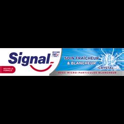 Dentifrice soin fraîcheur blanc crystal SIGNAL, 75ml