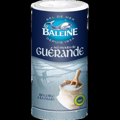 "Sel blanc fin de Guérande ""LA BALEINE"", boîte verseuse, 250g"
