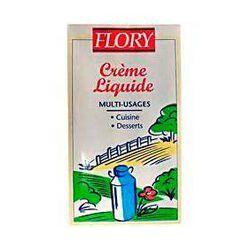 Crème liquide entière pasteurisée UHT FLORY, 30%MG, brique de 1l