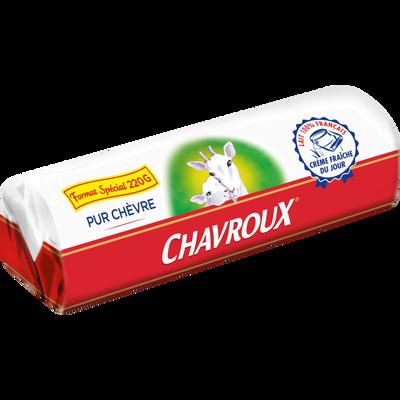 Bûche de chèvre au lait pasteurisé CHAVROUX, 28% de MG, 220g