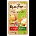 Riches Monts Fromage Pour Raclette Au Lait Pasteurisé Duo Tranché Classique Et Chèvre , 26% De Mg, 365g