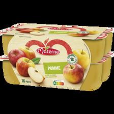 Materne Compote Allégée Pomme Nature  16x100g