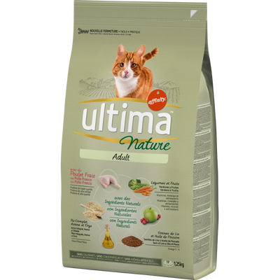 Croquettes pour chat adulte au poulet ULTIMA NATURE, 1,25kg
