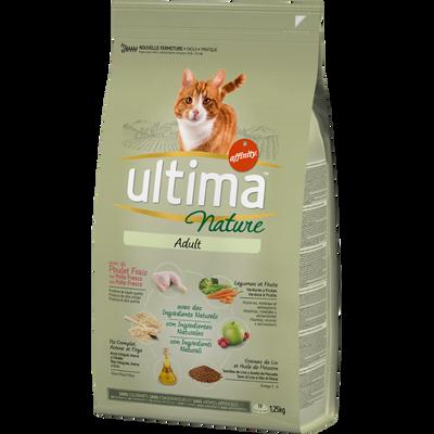 Croquettes pour chat adulte au poulet ULTIMA NATURE, sac de 1,25kg