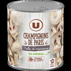 Champignons de Paris pieds et morceaux U, boîte de 460g